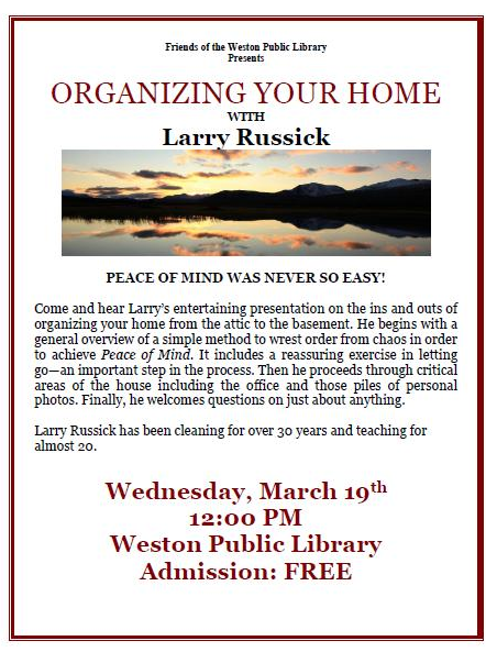 Organizing Your Home - March 19th