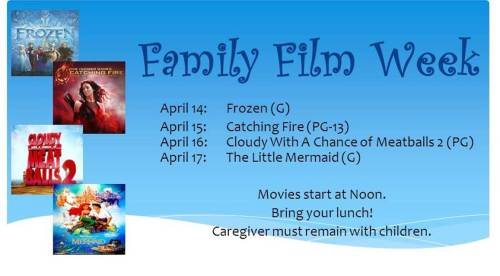 Family Film Week at the Weston Library